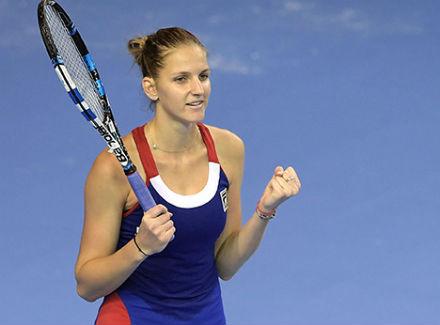 Каролина Плишкова вывела вперед сборную Чехии вфинале теннисного Кубка Федерации