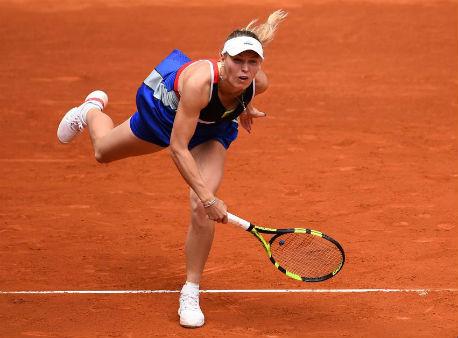 Мария Шарапова обыграла Кристину Младенович ипробилась вчетвертьфинал турнира вМадриде