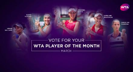 Русская теннисистка стала лучшей кначалу весны поверсии WTA