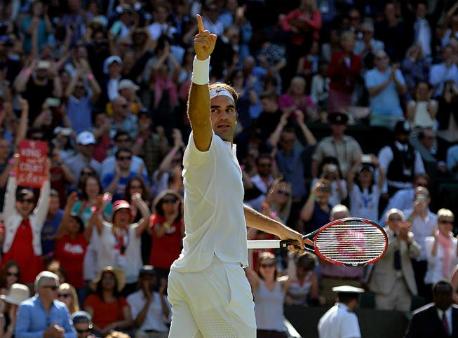Роджер Федерер стал восьмикратным победителем Уимблдонского турнира