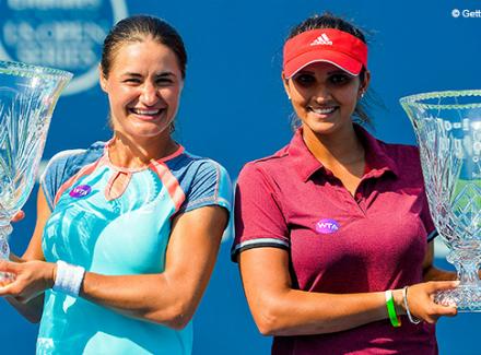 Сания Мирза иМоника Никулеску выиграли парный турнир вНью-Хейвене