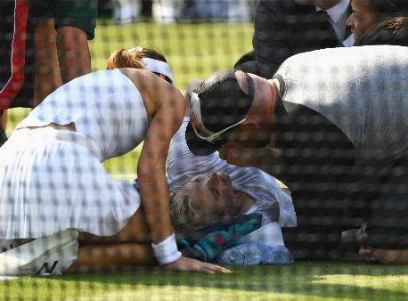 Теннисистка Маттек-Сандс доставлена вбольницу вовремя матча наУимблдоне