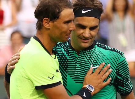 Федерер за95 мин.  разбил Надаля вфинале вМайами