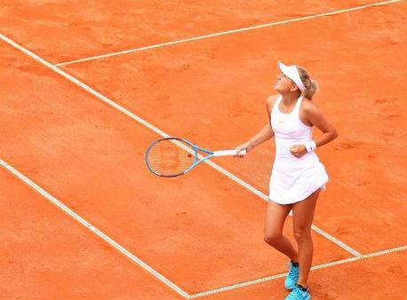 Анастасия Потапова взяла верх над Кристиной Плишковой ипрошла в1