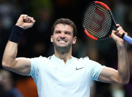Теннисист Димитров поднялся на 3-ю строчку врейтинге ATP