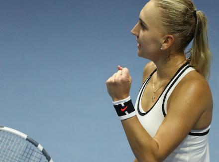 Доминика Цибулкова вышла вчетвертьфинал теннисного турнира в северной столице