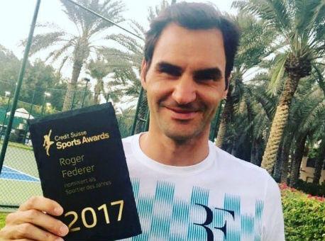 Федерер признан лучшим спортсменом 2017 года вШвейцарии, Хишир— лучшим новичком