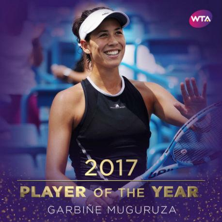 Испанка Мугуруса признана лучшей теннисисткой 2017 года поверсии WTA