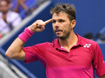Стэн Вавринка выиграл третий сет финала US Open у Новака Джоковича