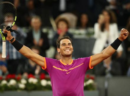 Надаль в 5-й раз одержал победу Mutua Madrid Open— Теннис