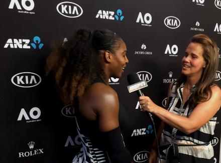 Серена Уильямс в 8-ой раз вкарьере вышла вполуфинал Australian Open
