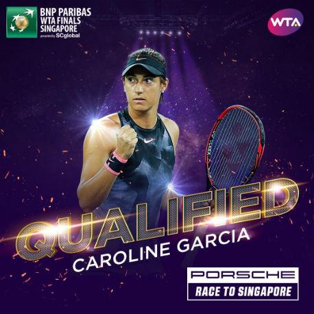 Каролин Гарсия квалифицировалась на Итоговый чемпионат WTA