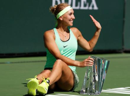 Россиянка Елена Веснина стала сильнейшей натеннисном турнире вамериканском Индиан-Уэллсе