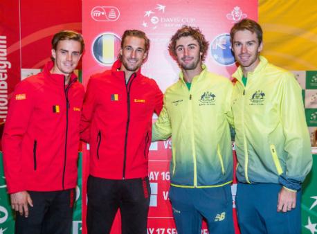 Сборная Бельгии одолела команду Австралии вполуфинале Кубка Дэвиса