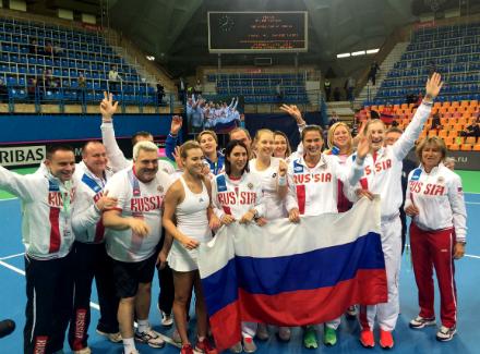 Сборная РФ может сыграть сукраинками вплей-офф Мировой группыКФ