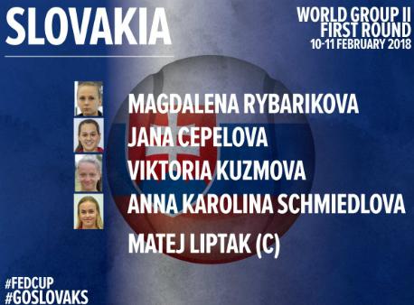 Определился состав сборной РФ наматч Кубка Федерации против команды Словакии