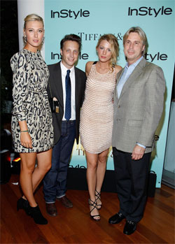 Maria Sharapova, Editor of Instyle magazine Ariel Foxman, actress Blake Lively and Jon King, Executive Vice President of Tiffany & Co. Фото: Getty Images