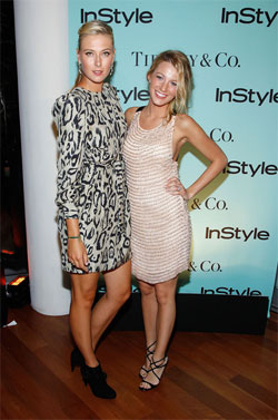 Maria Sharapova and actress Blake Lively. Фото: Getty Images